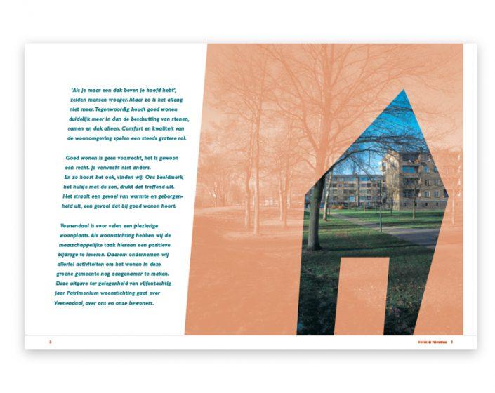 Boek design en opmaak woningbouwvereniging patrimonium Veenendaal