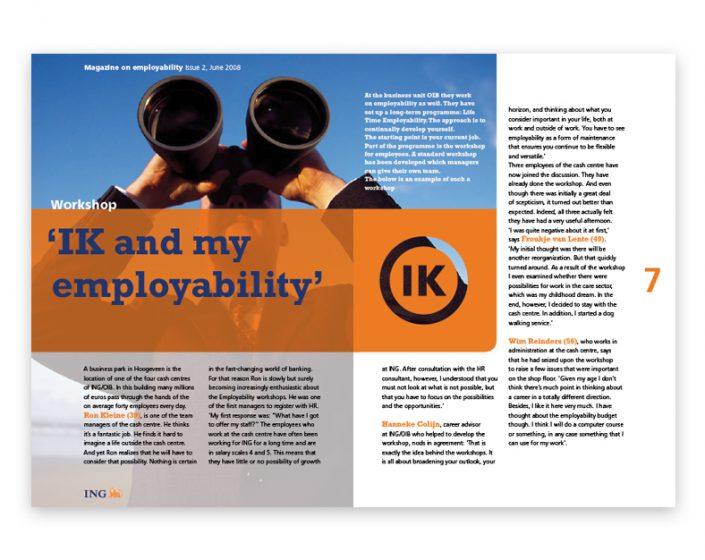 Design en opmaak voor IK magazine, ING Bank