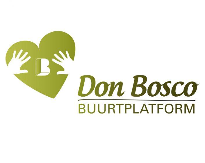 Logo voor buurtplatform Don Bosco, met aandacht voor de groen in de wijk