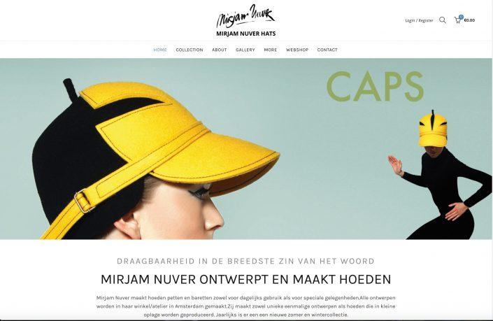 Webshop voor hoedenmaker, kleine ondernemer met veel ambachtelijke producten