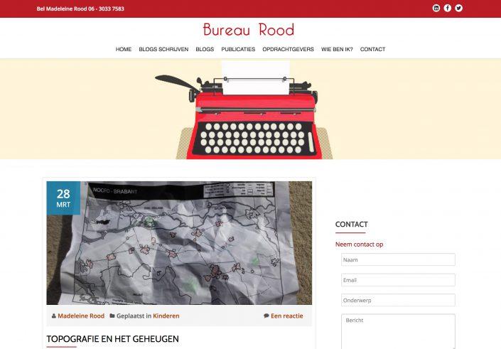 Blog WordPress website voor tekstschrijver
